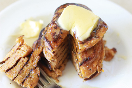 Protein Packed Sweet Potato Pancakes