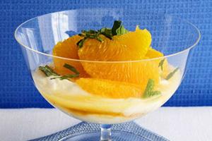 Greek Yogurt With Oranges and Mint