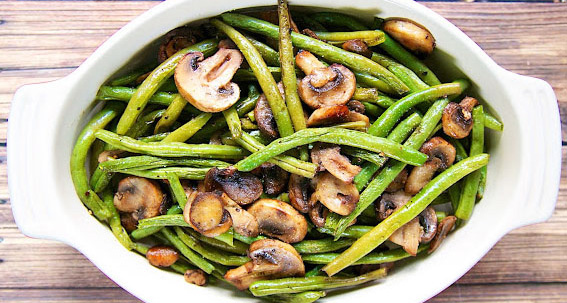roasted-green-beans-mushrooms